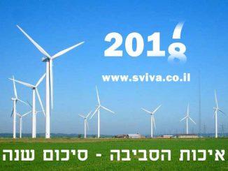 איכות הסביבה בישראל סיכום שנת 2017